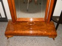 Wonderful Art Deco standing mirror with Honduras mahogany wood