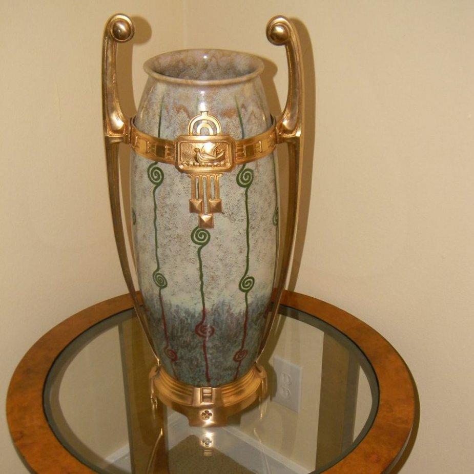 Rare European Ceramic Jugendstil Vase or Art Nouveau with ...