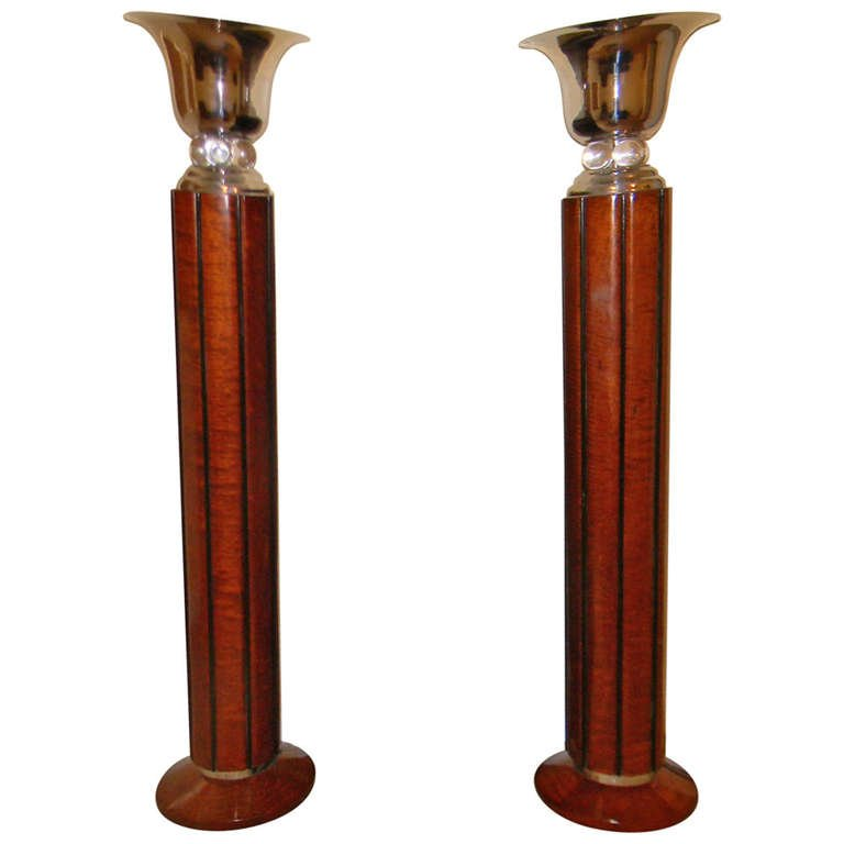 Art deco lighting for sale torchiere and floor lamps art deco spectacular art deco floor lamps torchieres two tone wood mozeypictures Image collections