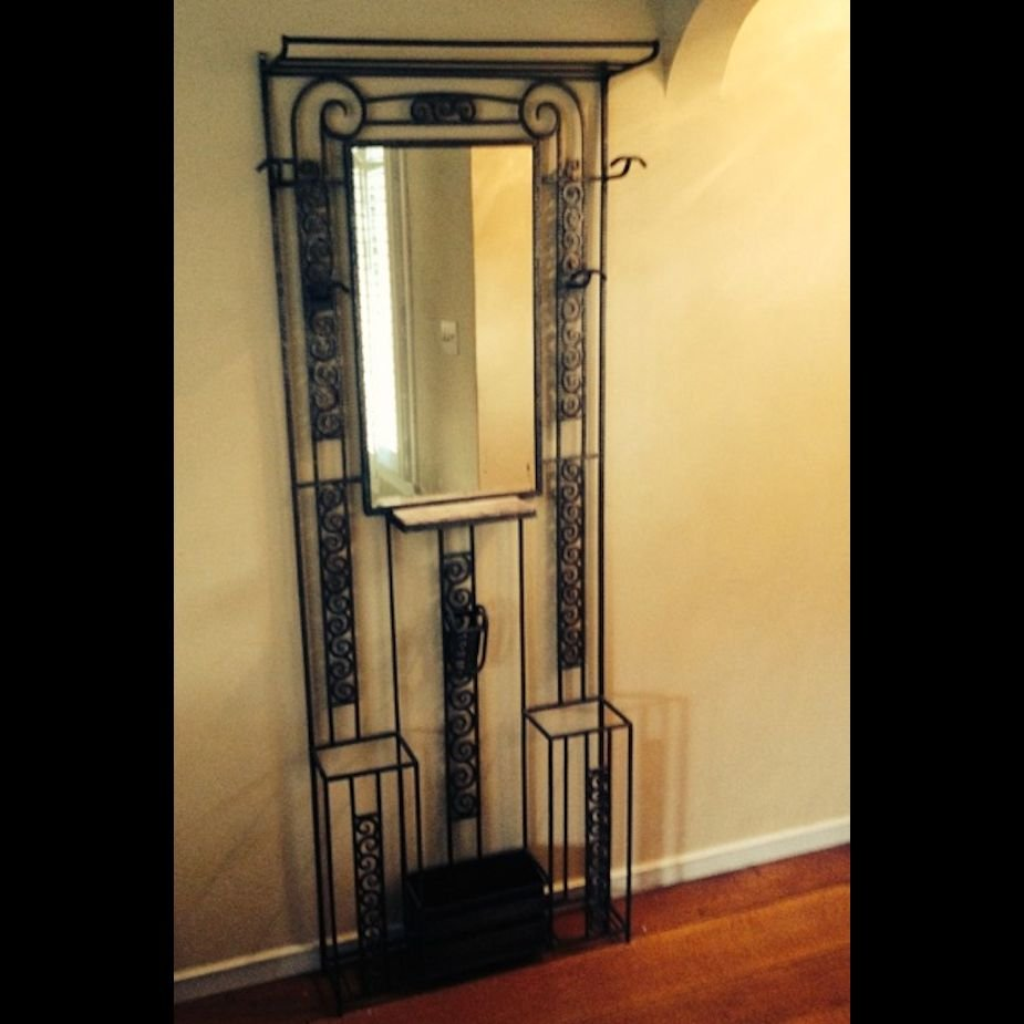 French Art Deco Iron Entry Hall Tree Sold Items Dining