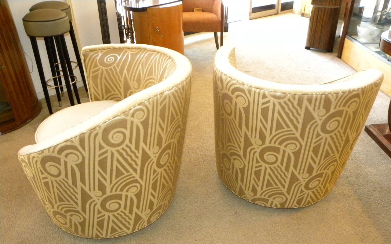 Hollywood Glamour Art Deco Unique Swivel Chairs Sold Items