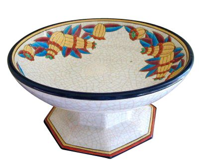 Longwy Pedestal Bowl