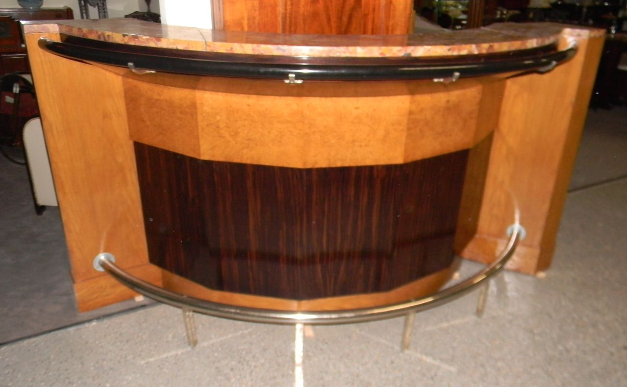 French Art Deco Stand Behind Bar With Stools 1930 S