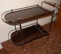 Restored Metal Frame Art Deco Bar cart