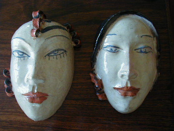 Art Deco Terra Cotta Mask
