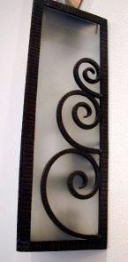 French wrought iron sconce panel lights