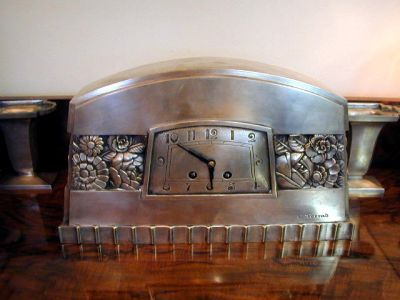French sculpted clock signed c. terras sold items art deco clocks