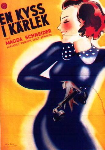 Swedish Poster En Kyss I Karlek