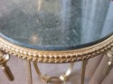 Gilded Iron Art Deco Table With Marble Top