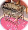 1930s Art Deco Glass and Chrome Service Cart
