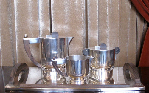 1930s French Art Deco Coffee/Tea Set • Silverplate