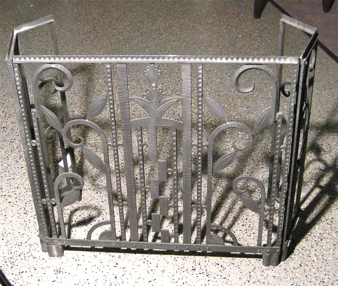 Three Piece Art Deco Iron Fireplace Screen Sold Items Ironwork Collection