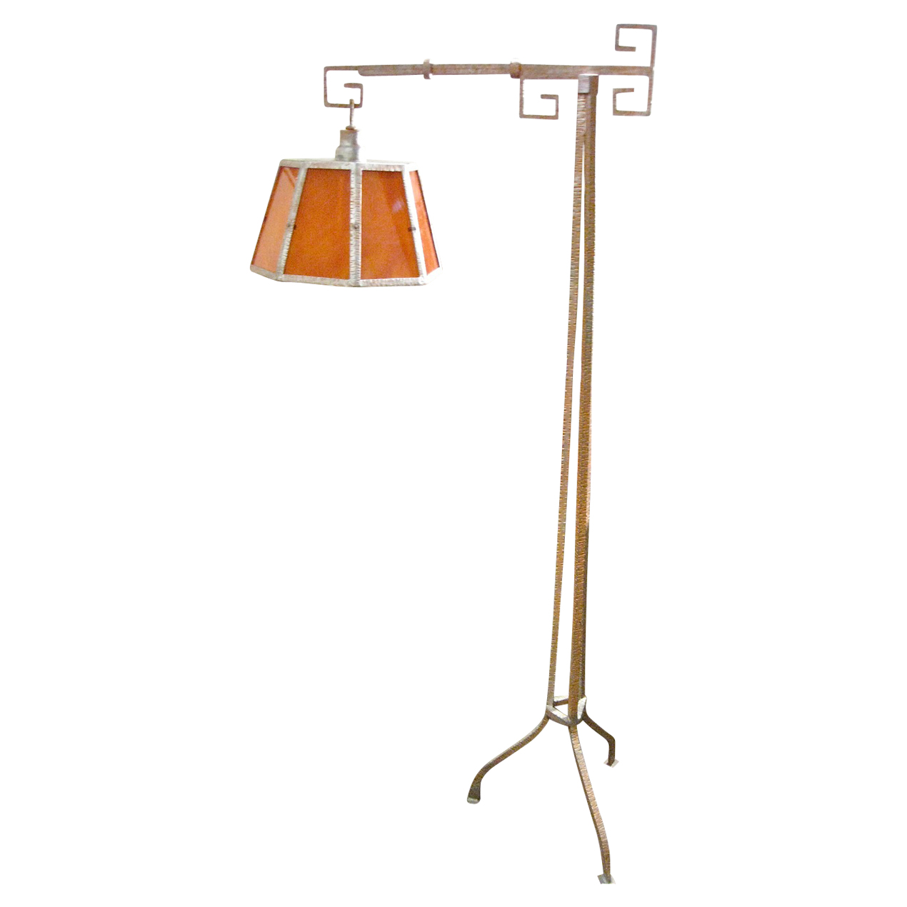 Art Deco Iron Floor Lamp
