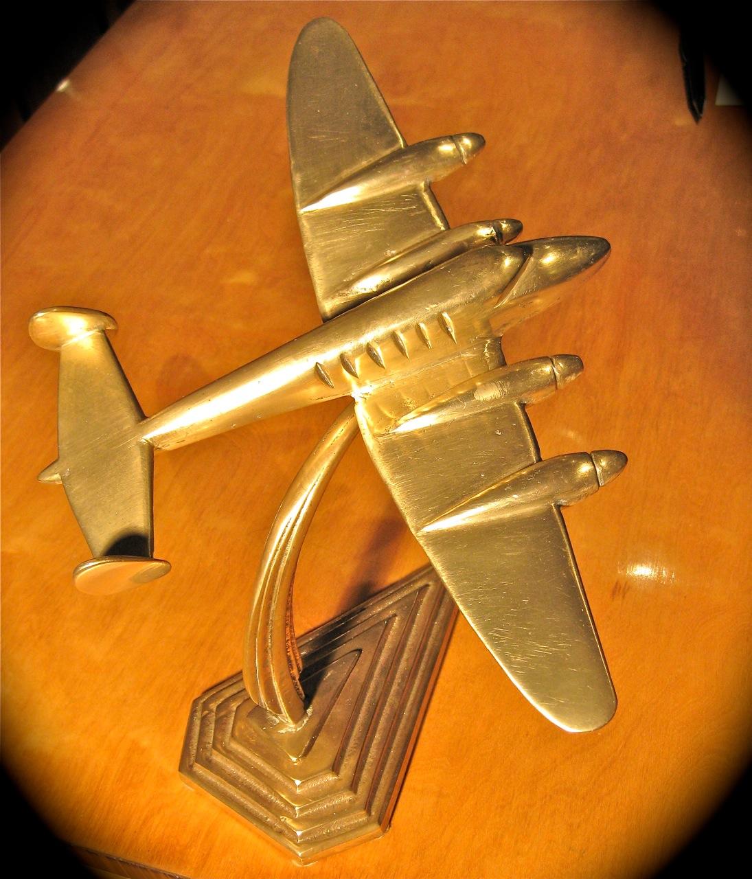 1930s art deco plane sold items statues art deco - What is art deco ...