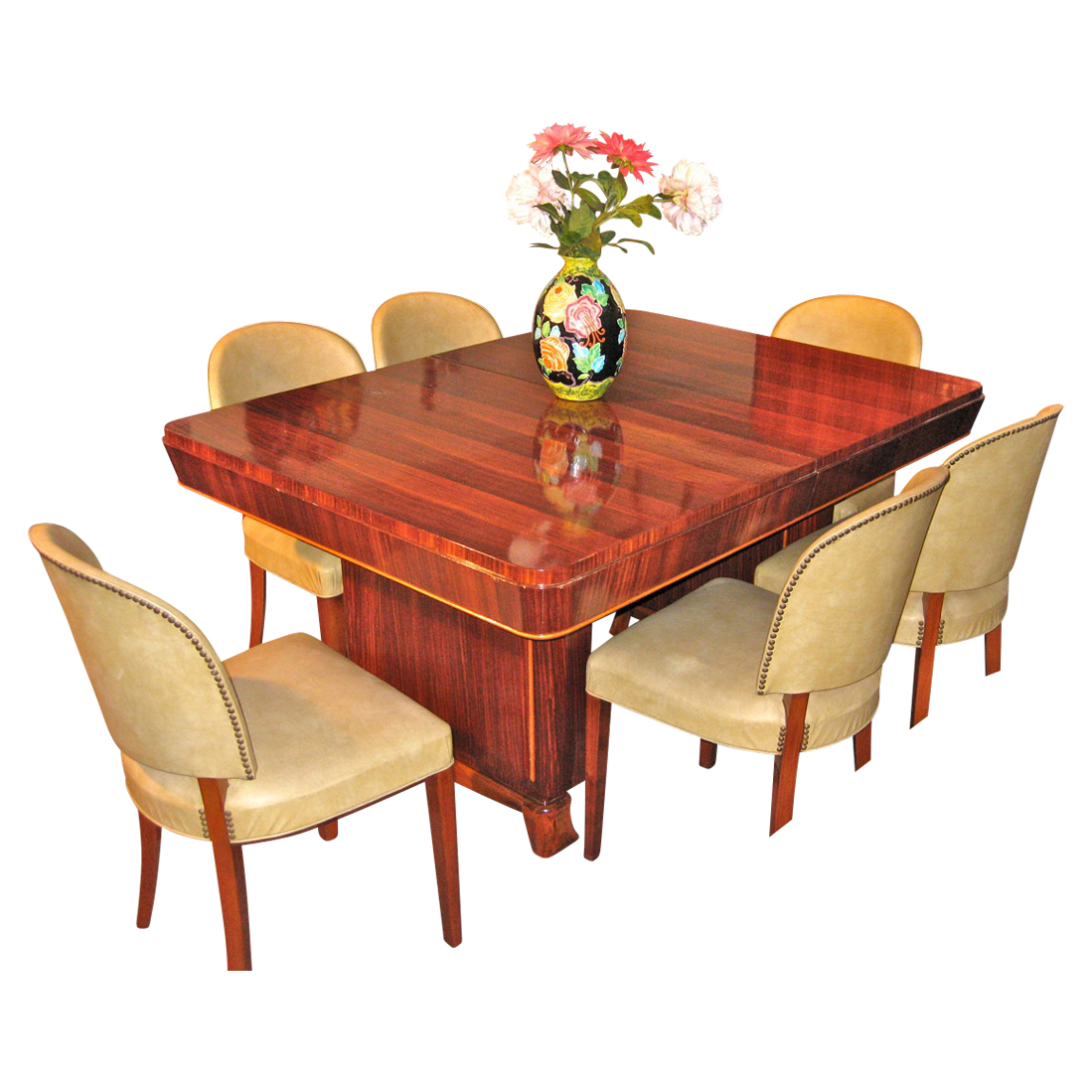 1940s Art Deco Mahogany Dining Suite