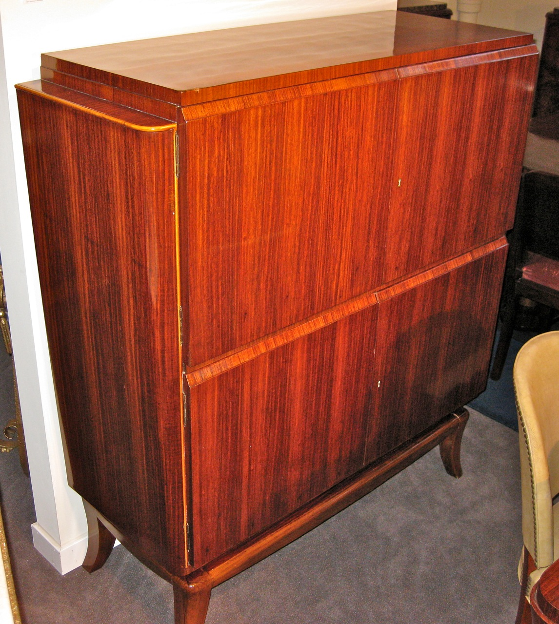 1940s Art Deco Mahogany Dining Suite Dining Room Art Deco Collection