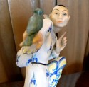 1920s Art Deco Porcelain Japanese Figure W/ Bird • Marta Schlameus