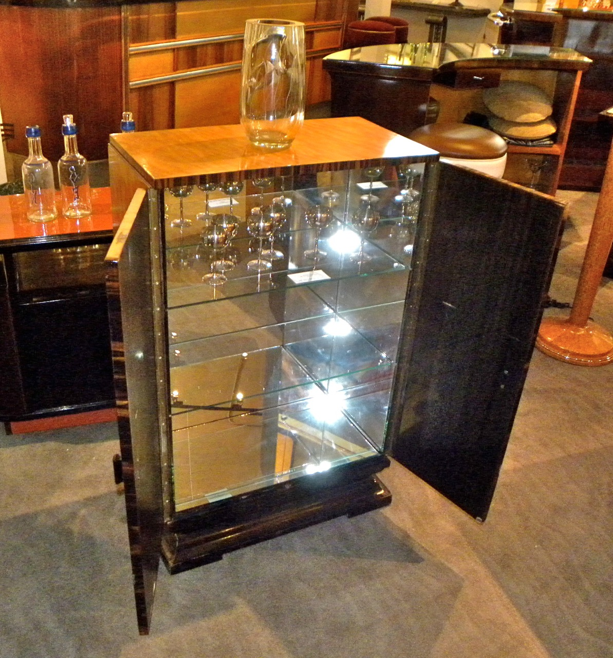 art deco bar cabinet sold items dining room art deco collection. Black Bedroom Furniture Sets. Home Design Ideas