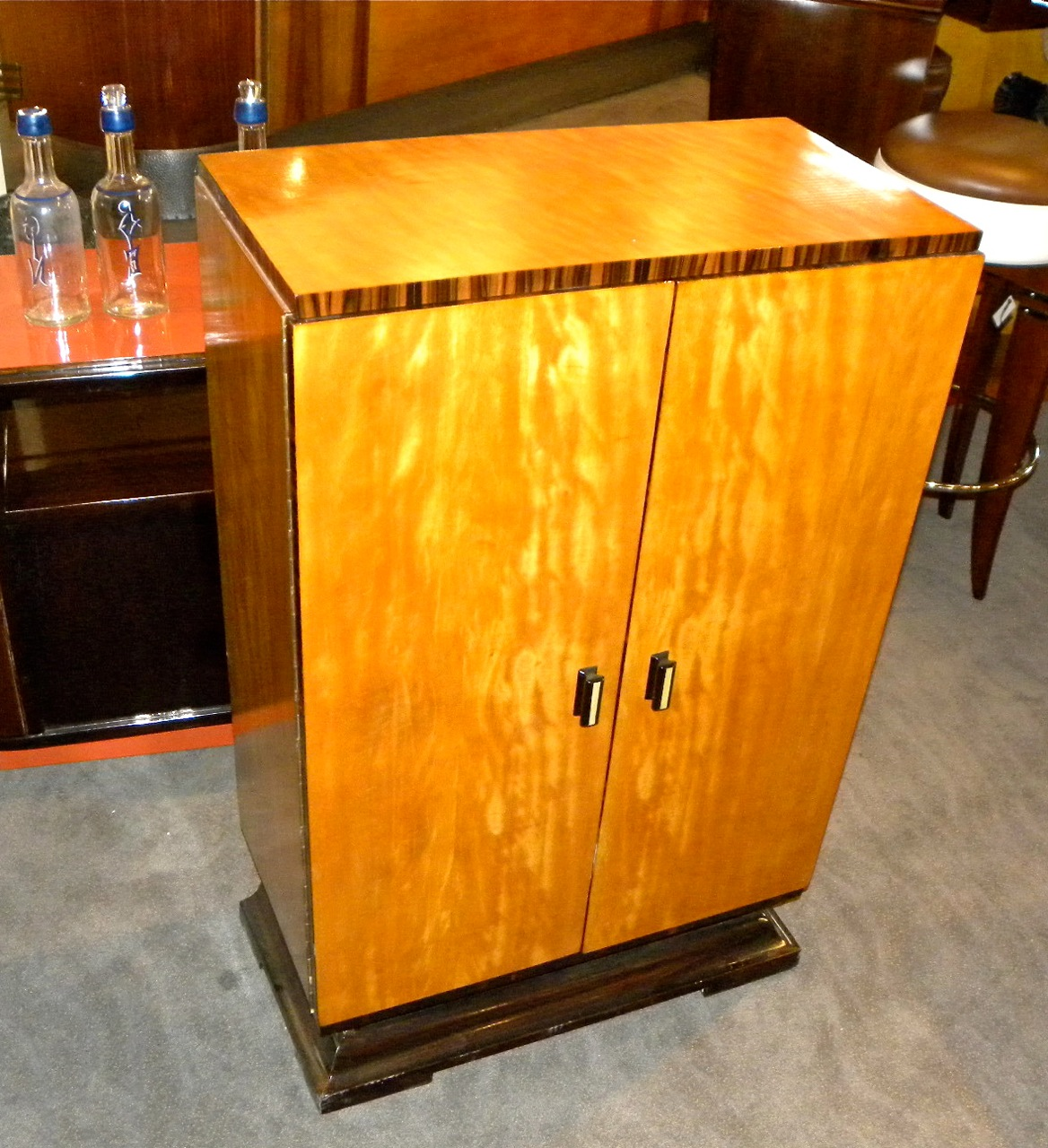 art deco bar cabinet sold items dining room art deco. Black Bedroom Furniture Sets. Home Design Ideas