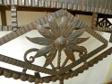 Art Deco Iron Console With Black Marble