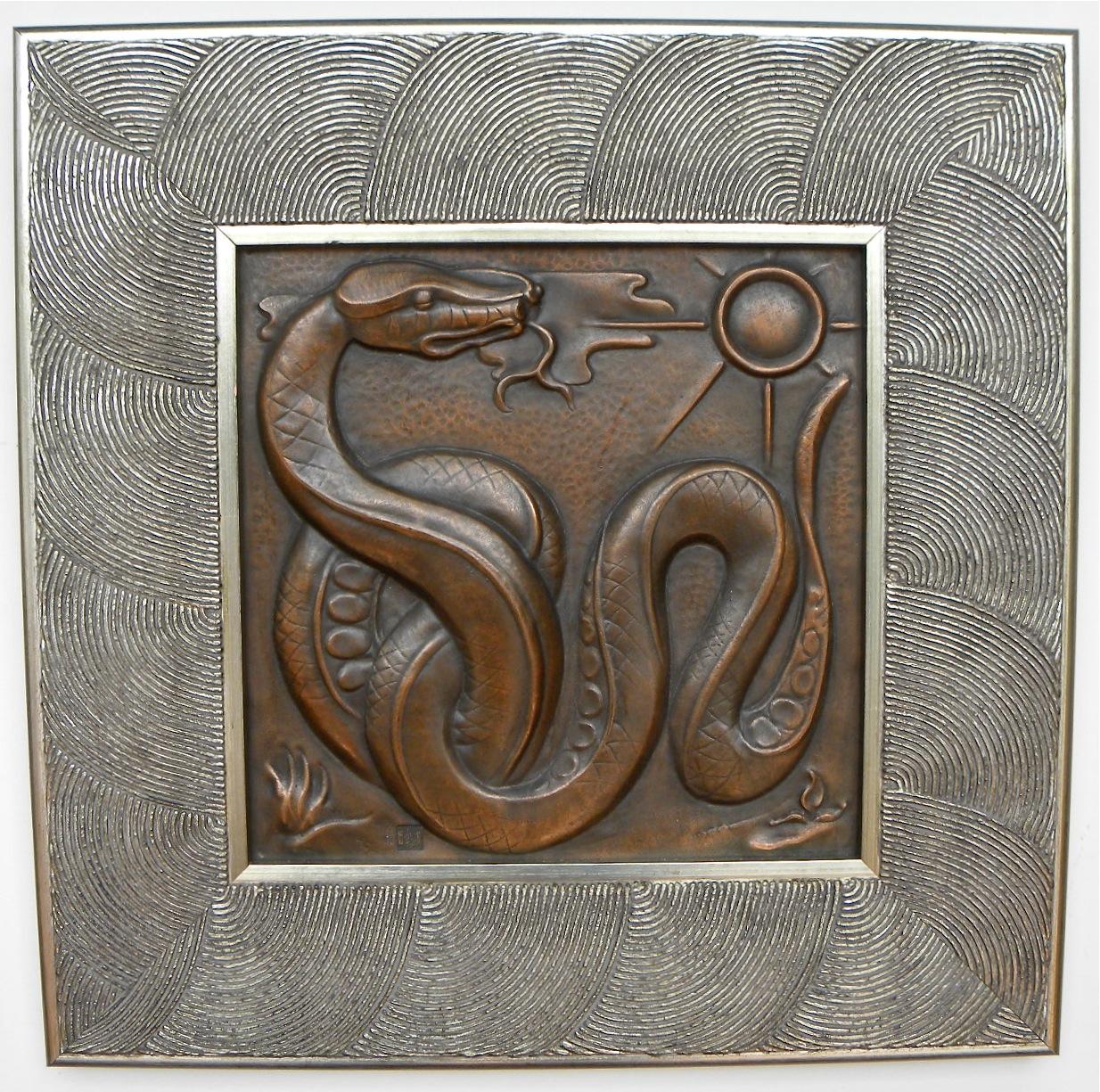 Favorite 1930s Belgian Art Deco Copper Wall Plaque Quintet Maredsous  ZS48