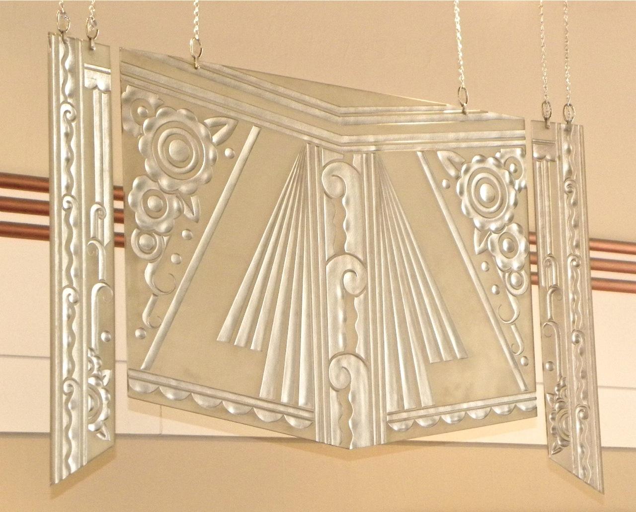 1930s art deco glass triptych sold items glass art. Black Bedroom Furniture Sets. Home Design Ideas