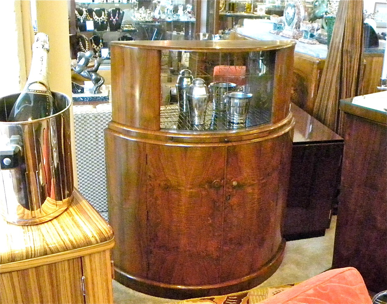 1930s art deco english demi lune bar sold items bars. Black Bedroom Furniture Sets. Home Design Ideas
