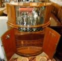 1930s Art Deco English Demi-Lune Bar