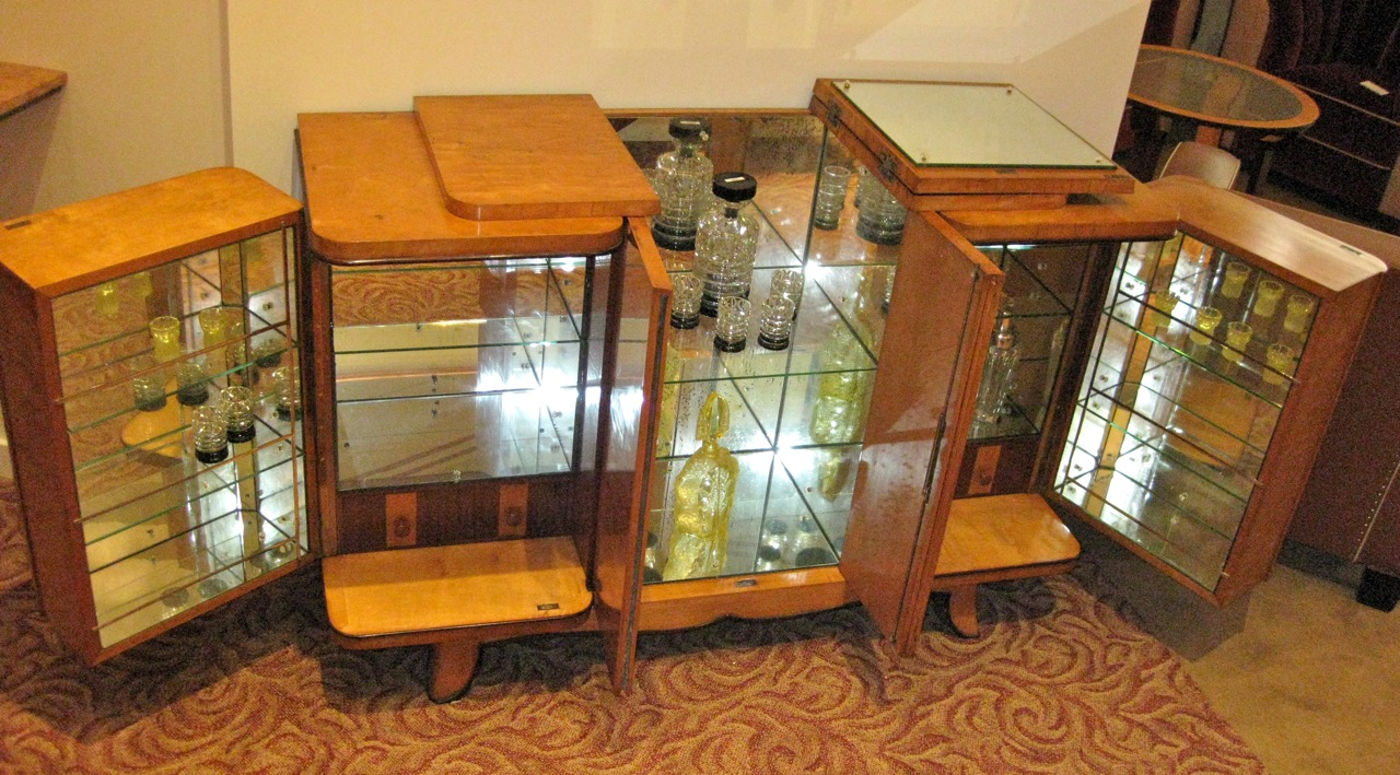 1930s art deco console bar sold items bars art deco collection. Black Bedroom Furniture Sets. Home Design Ideas