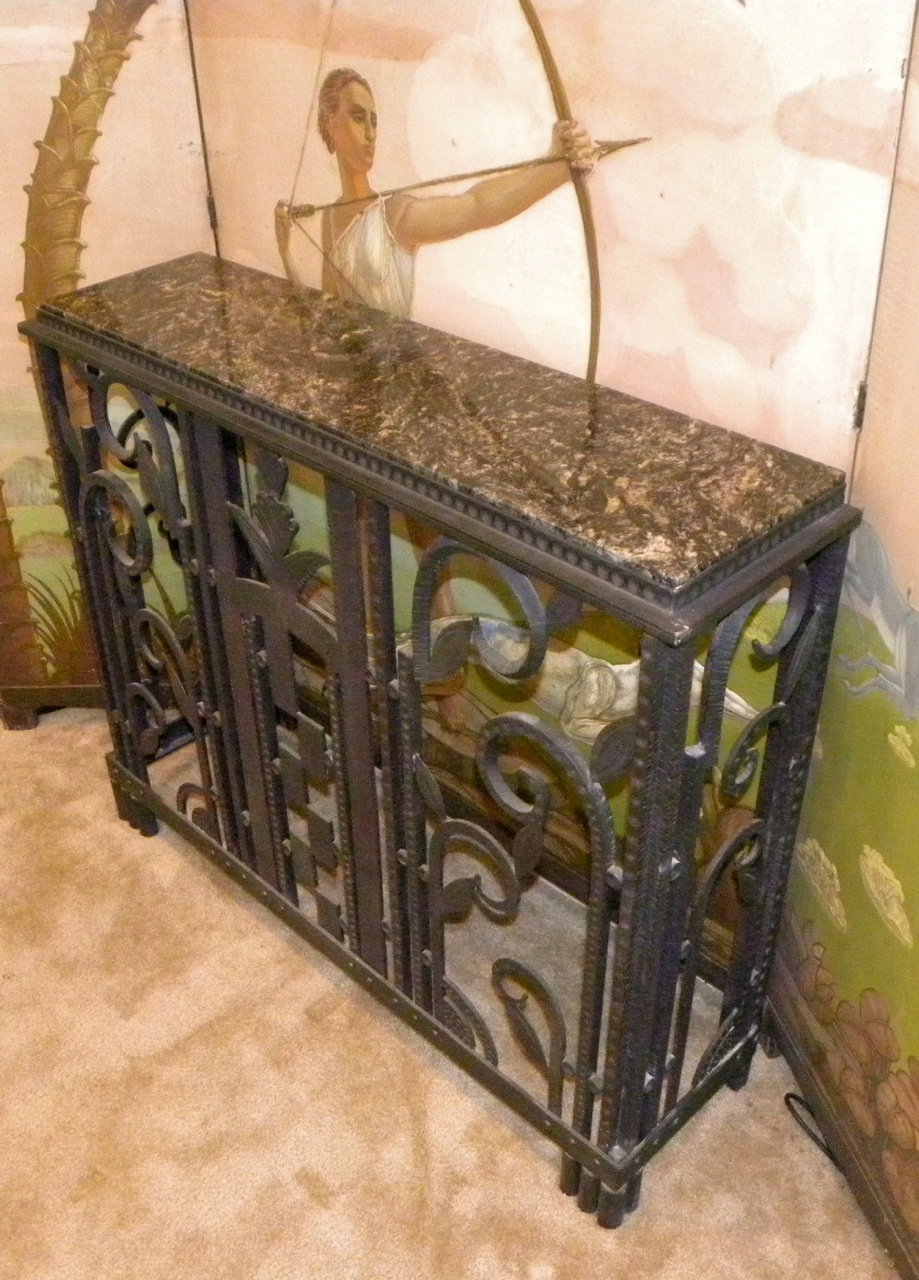 Art Deco Iron Console Radiator Cover Sold Items Ironwork Art Deco Collection