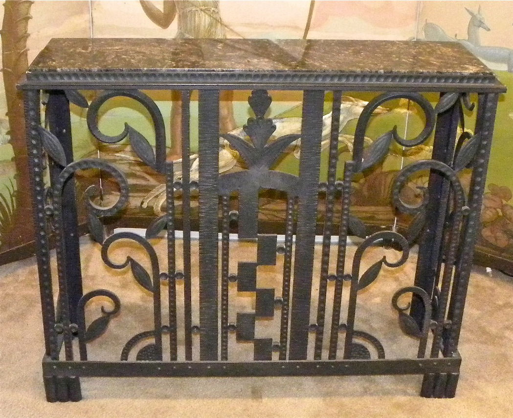Art Deco Iron Console Radiator Cover Sold Items