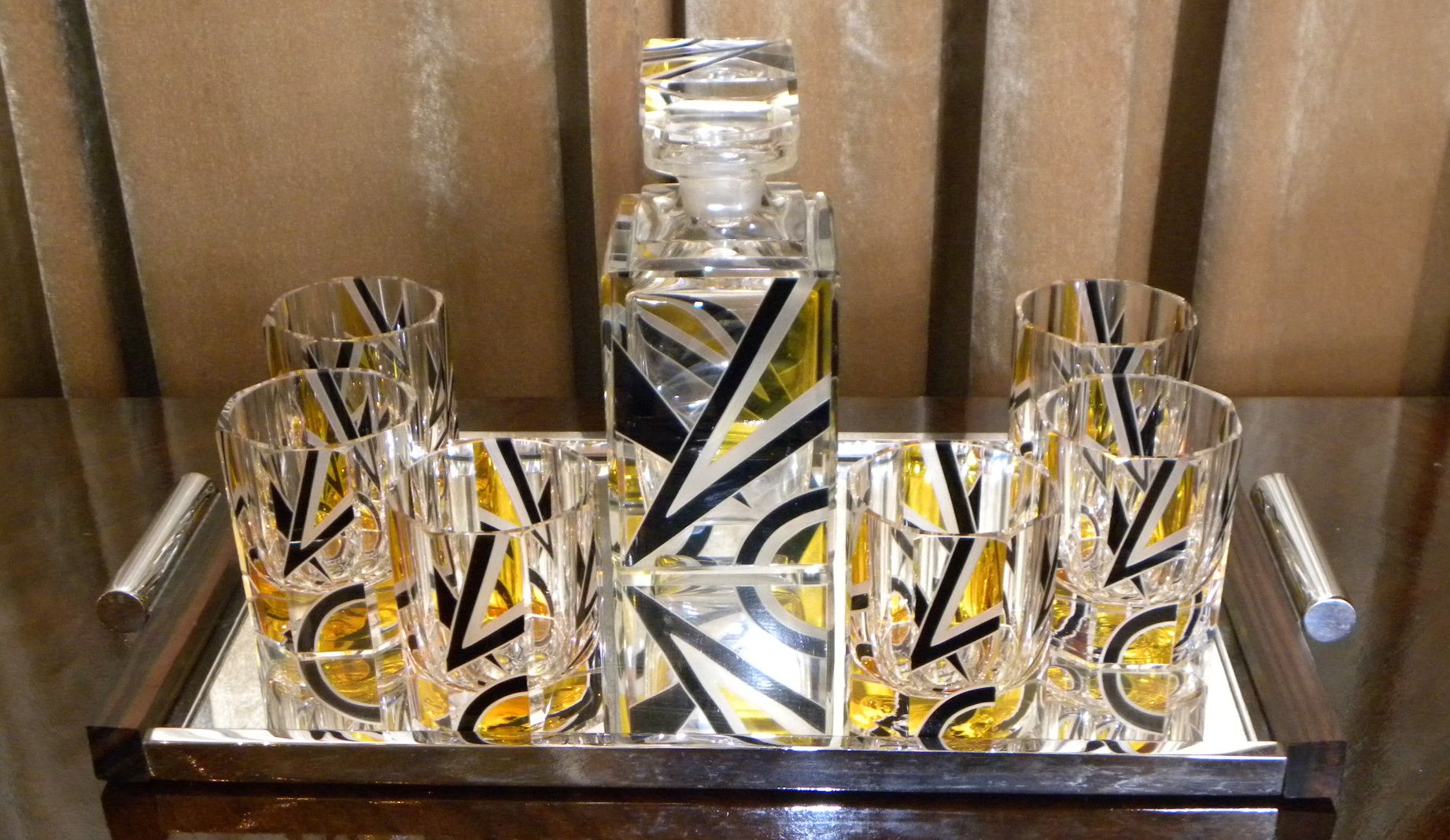 1930s Art Deco Czech Whiskey Decanter Set Sold Items