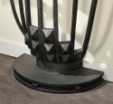 Art Deco Geometric iron and marble console