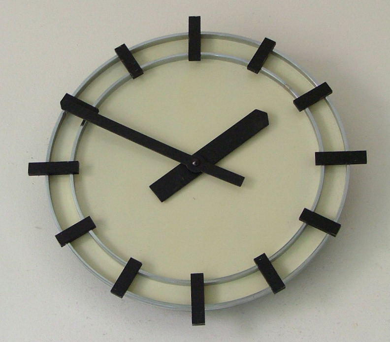 German Modernist Bauhaus Style Wall Clock Sold Items Art