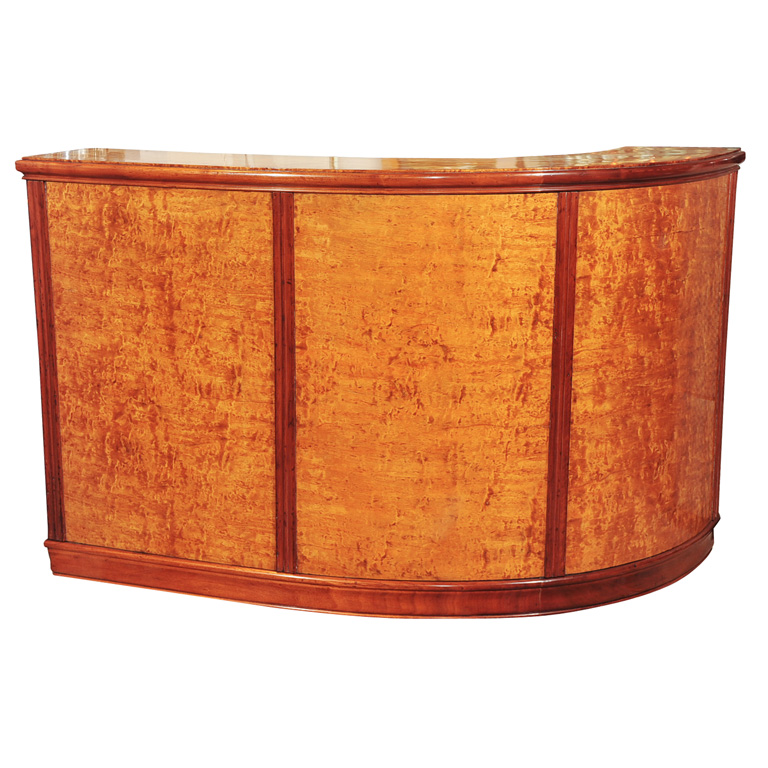 Stunning Maple Walnut Stand Behind Art Deco Bar Sold