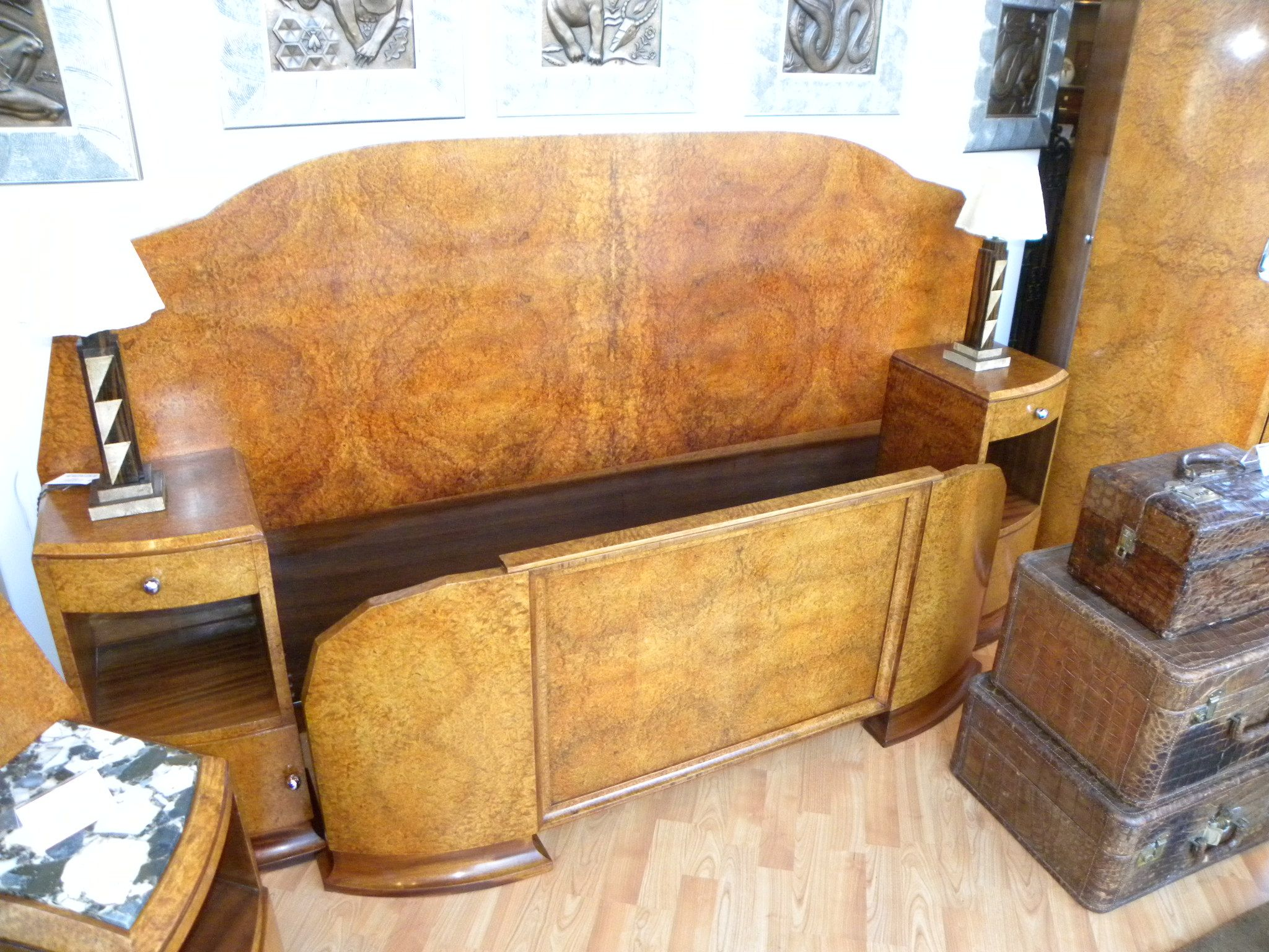 art moderne furniture. fabulous art deco modernist amboyna burl queen bedroom suite moderne furniture