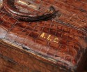 Original Alligator matching luggage suite from I. Magnin Shop