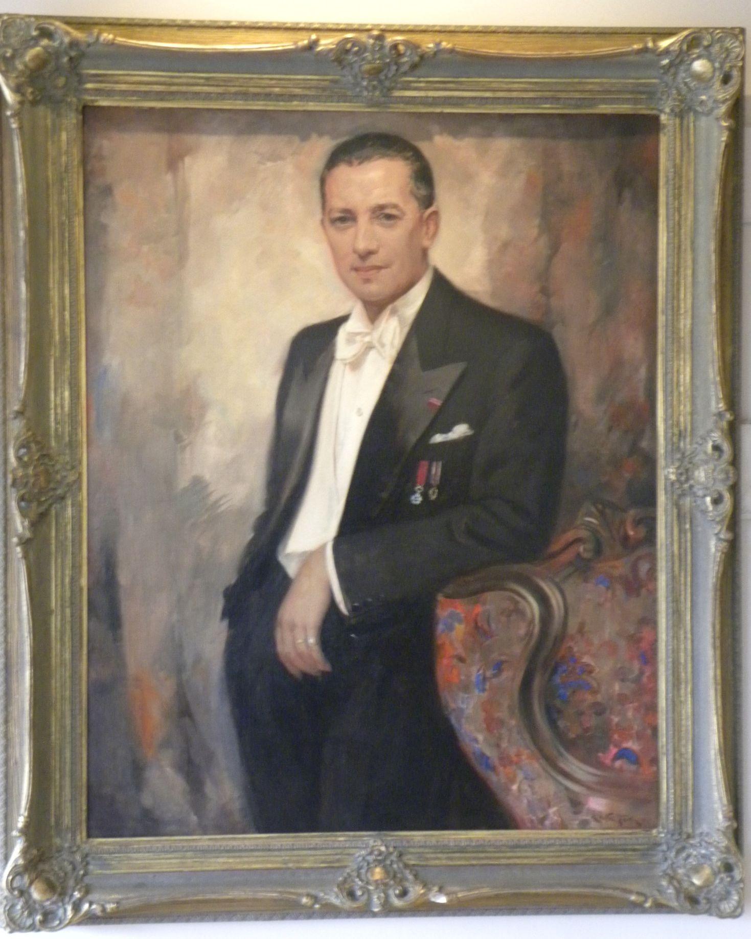 Art Deco Gentlemans Portrait White Tie Tails Nobility By