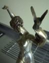 Art Deco statue with classic female