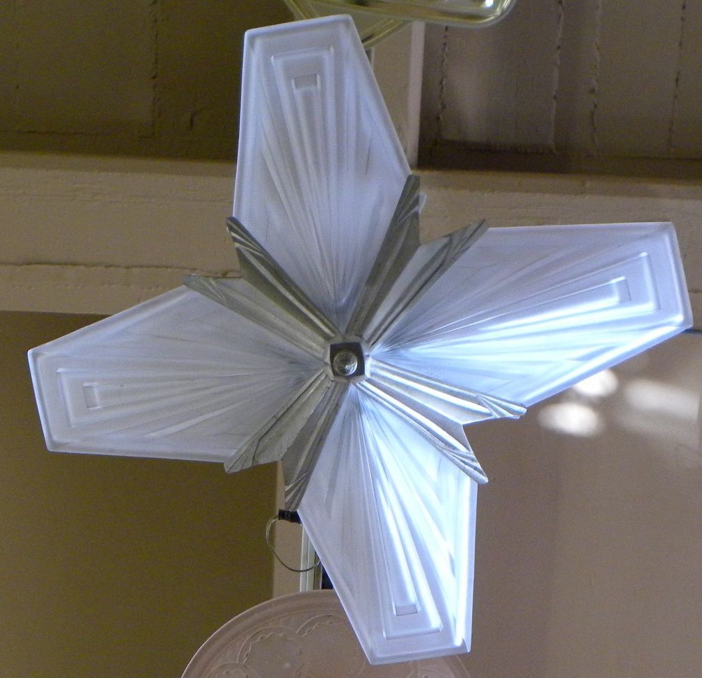 Art Deco Modernist Degue Starburst Hanging Ceiling light