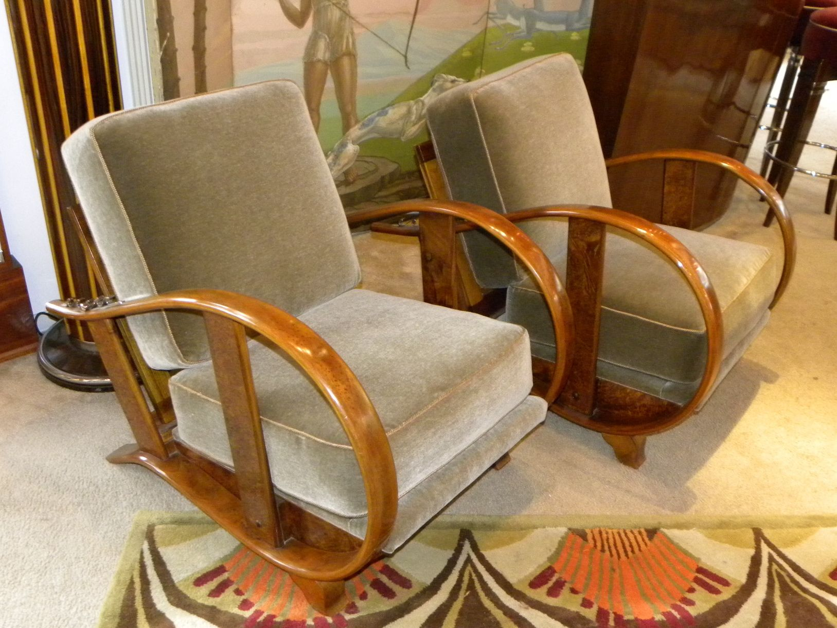 Czech bentwood art deco chairs sold items seating items for Art deco living room chairs