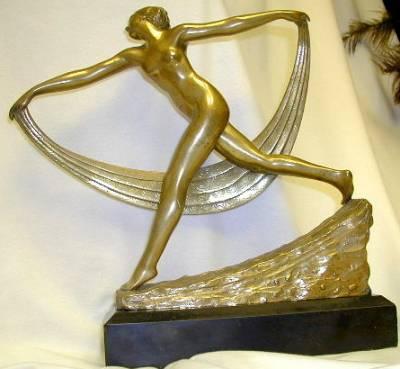 gilt-bronze Scarf Dancer Statue