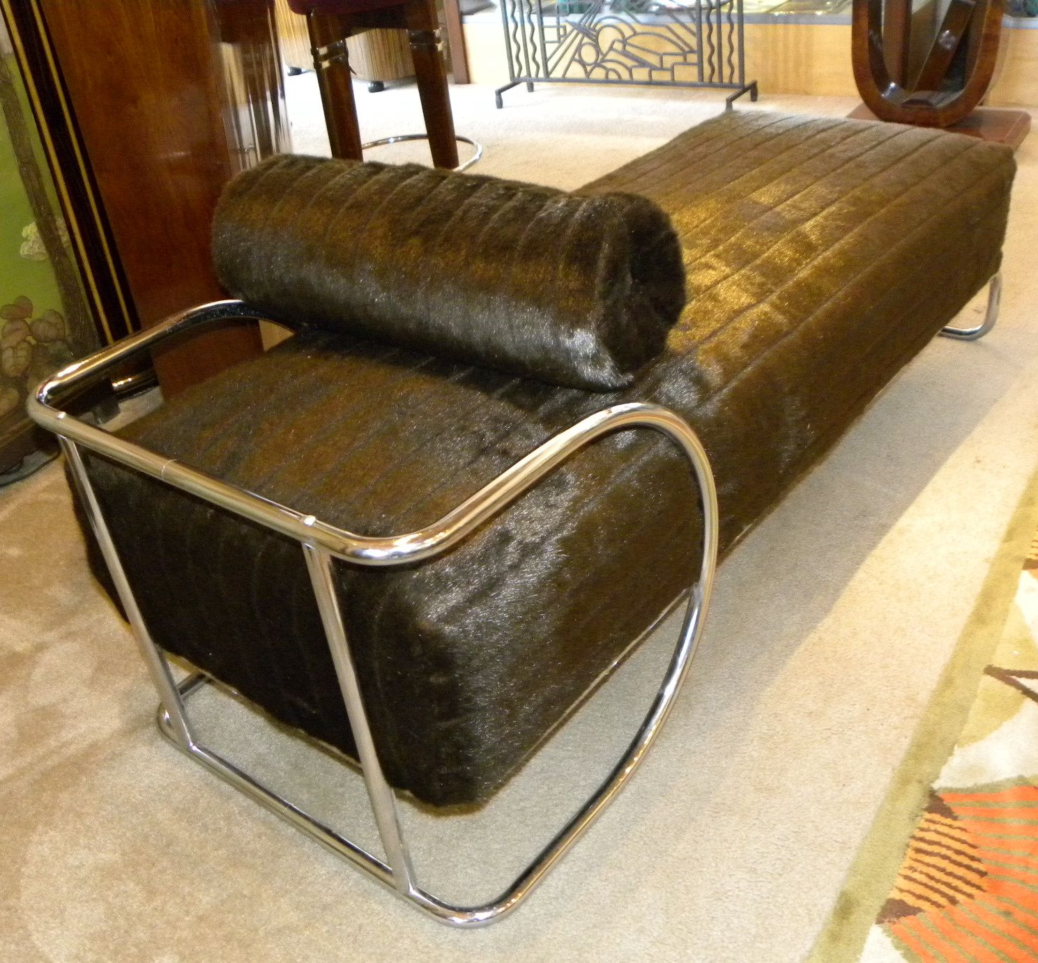 Classic bauhaus chaise lounge in metal circa 1940s sold for Art nouveau chaise lounge