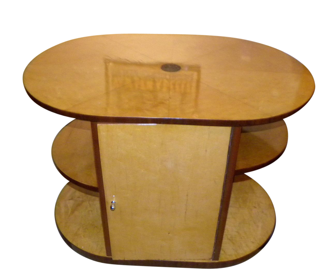 Oval Streamline Art Deco Coffee Table Or Mini Bar Small Tables Art Deco Collection