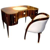 Spectacular Art Deco Desk and Chair In Style of Ruhlmann