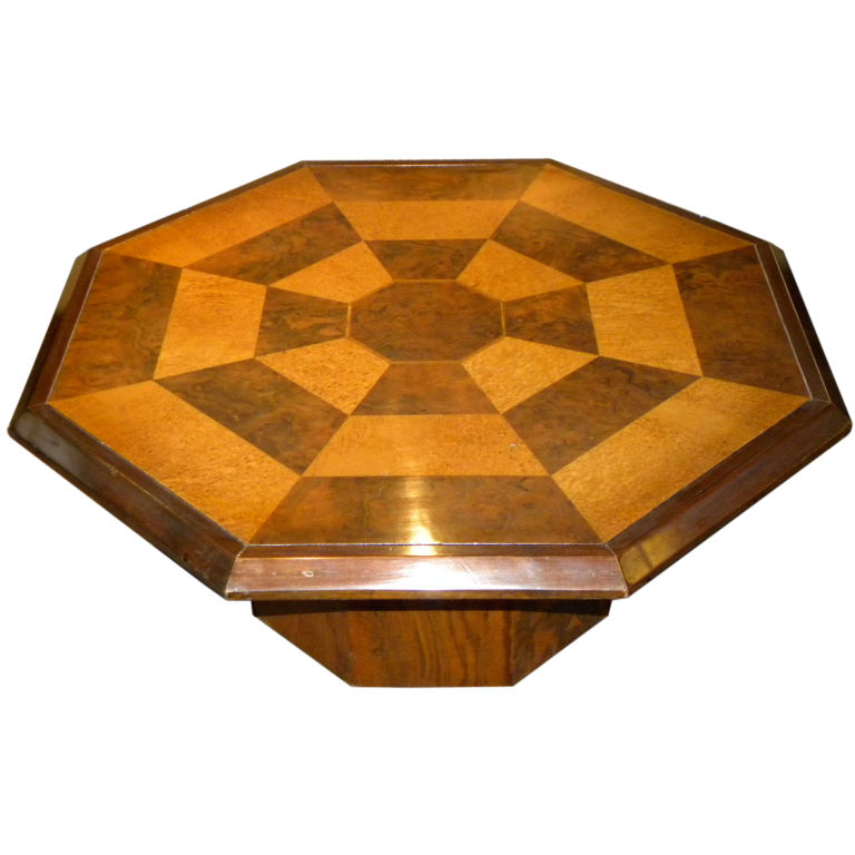 Original Two Tone Octagon Coffee Table