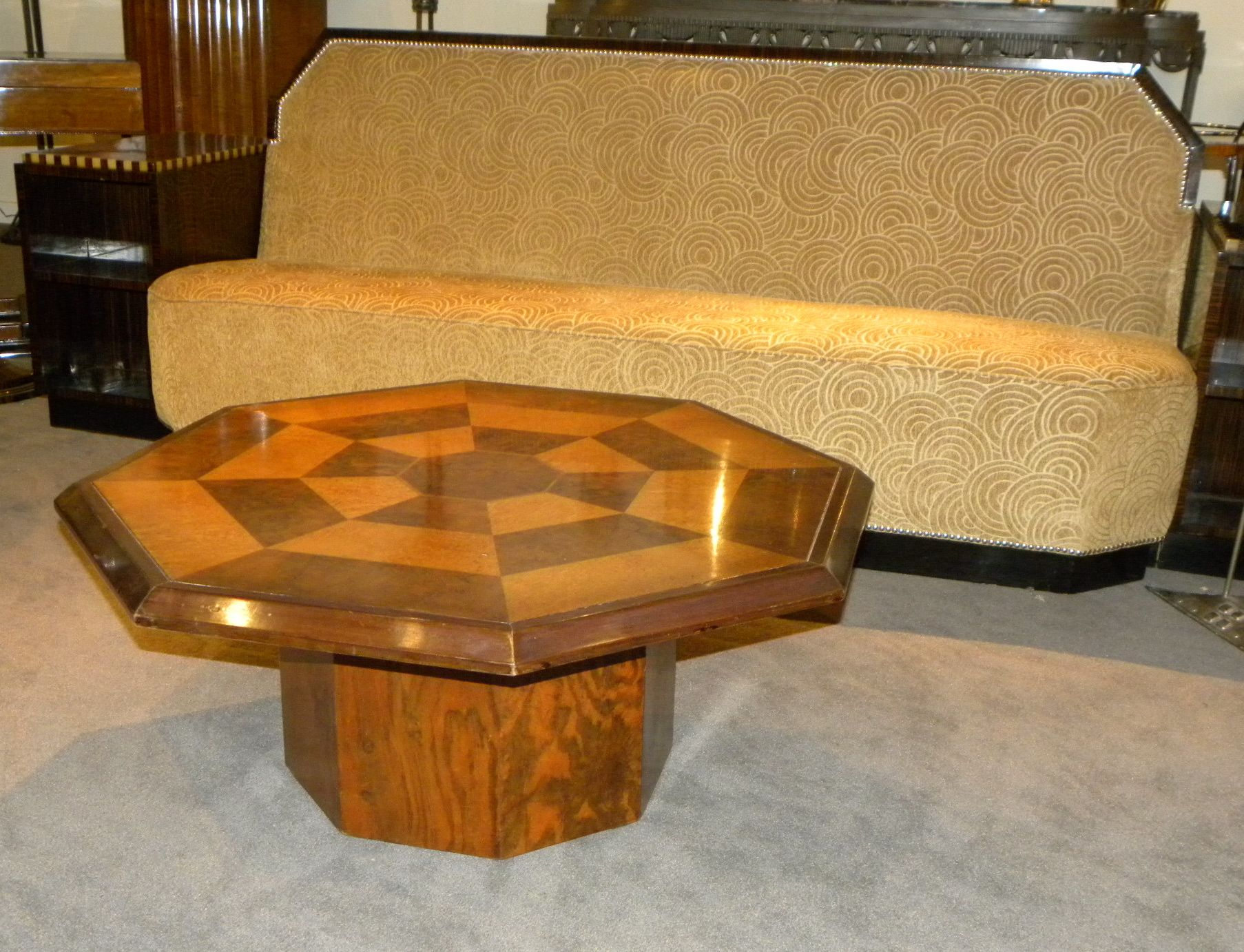 Original Two tone Octagon Coffee Table Small Tables