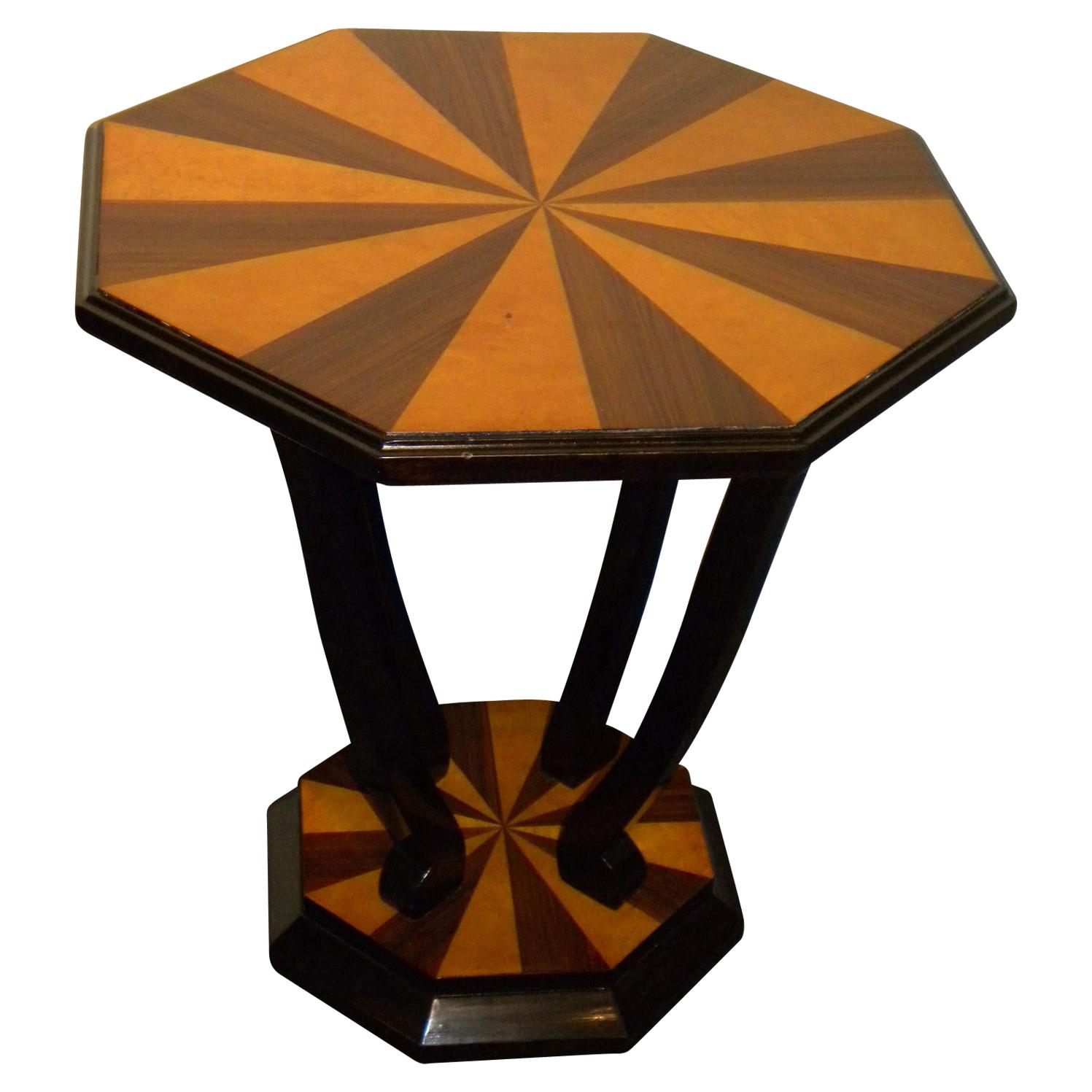 Custom Art Deco Side Table