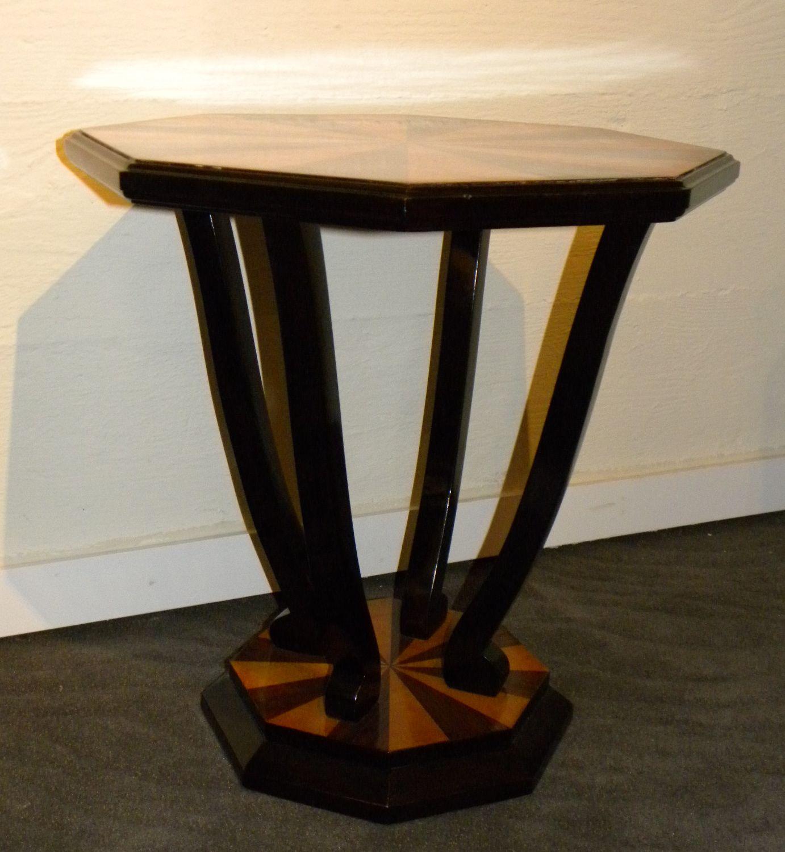 Custom art deco side table small tables art deco for Petite table deco