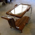 Awfully Cool Streamline Art Deco Bar or Serving Cart